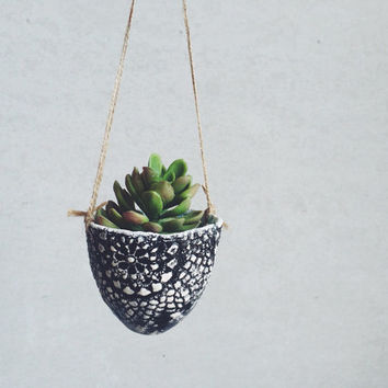 Ceramic Lace Hanging Planter - Ceramics and Pottery - Garden Gifts for Her