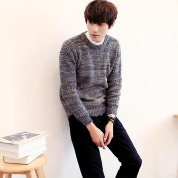 Mens Edgy Pullover Sweater