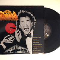 LP Soundtrack Album Scrooged Original Motion Picture Soundtrack Vinyl Record Stage and Screen Bill Murray