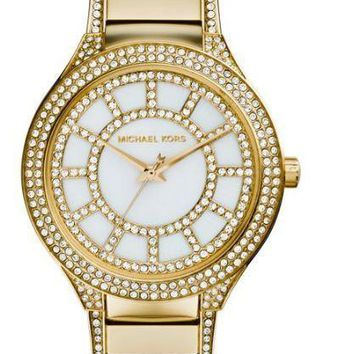 NWT Michael Kors Gold-Tone Kerry Watch MK3312