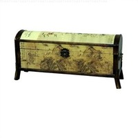 Oriental Furniture Galloping Horse Design Storage Box