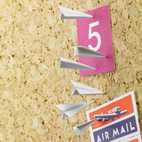 Paper Airplane Push Pins - See Jane Work