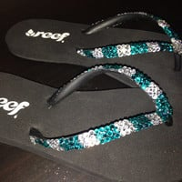 Team bling flip flops, cheerleading flip flops, softball team flipflops, basketball flip flops, swim team flip flops, team spirit,