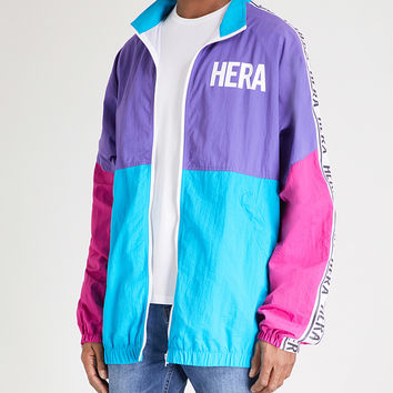 HERA Retro printed panelled shell jacket