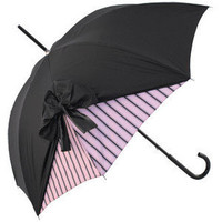 Drape Umbrella in Black and Rose Stripe by Chantal Thomass - Polyvore