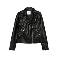 Buy Mango Faux Leather Biker Jacket, Black | John Lewis