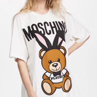 ''MOSCHINO'' Hot letters print T-shirt top