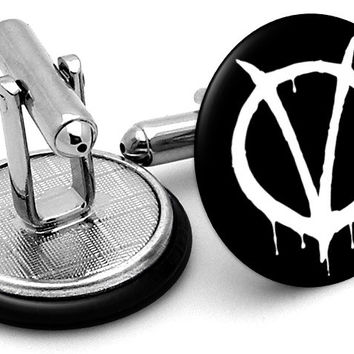 V for Vendetta Logo Cufflinks
