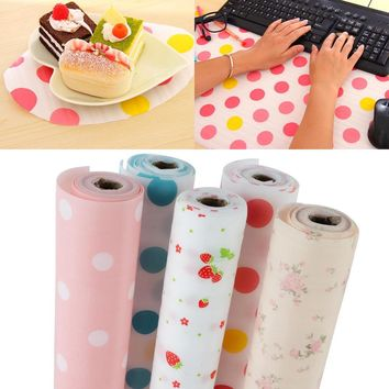 300cm Cute Polka Dots Shelf Cabinet Drawer Liner Strawberry Shelf Contact Paper Kitchen Table Mat Decoration