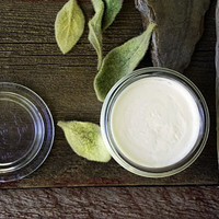 "Body Butter ""Dreaming Forest"" Solid Lotion Silky Mango Shea Aloe Natural and Organic 3 OZ Weck Jar"