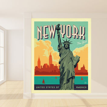 Anderson Design Group's New York Mural wall decal