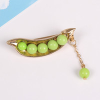 New Arrival Peas Women Brooches Pin Collar Pin Gifts Cartoon Jewelry Alloy Brooch Lapel Pins Men's Brooch Pins Corsage Brand