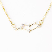 Gemini Constellation Zodiac Necklace  (05/22-06/21) - As seen in Real Simple
