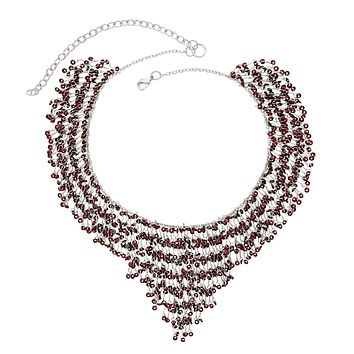 Sequined Maroon Necklace