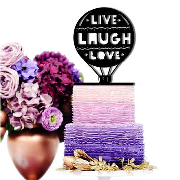 Cake Toppers Live Laugh Love Wedding Cake Toppers