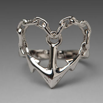 Obey Anchor Ring in White Gold from REVOLVEclothing.com
