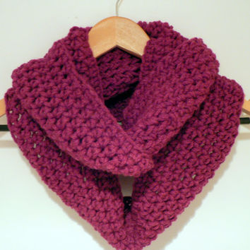Very berry infinity scarf cowl chunky soft by LottiesCreations