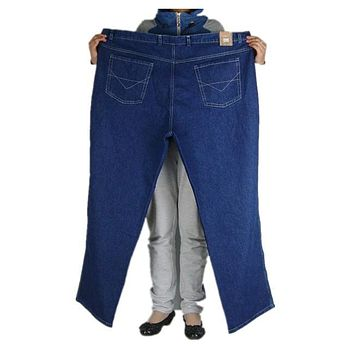 Men's Extra large plus size winter high waist thick fabric plus size big waist male jeans trousers free shipping