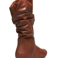 Slouchy Faux Leather Boots | Wet Seal