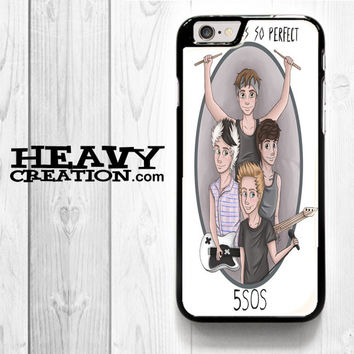 5Sos Collage for iPhone 4 4S 5 5S 5C 6 6 Plus , iPod Touch 4 5  , Samsung Galaxy S3 S4 S5 S6 S6 Edge Note 3 Note 4 , and HTC One X M7 M8 Case