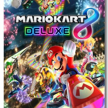 Super Mario party nes switch Custom Canvas Wall Decor  Kart 8 Poster  Bros Mural Sticker Office Game Wallpaper Cafe Wall Decals #0497# AT_80_8