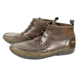 Floris van Bommel leather ankle boots / moc toe / moccasin / lace up