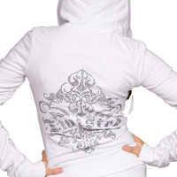 Twisted Heart House Rhinestone Zip Up Hoodie *More Colors Available*