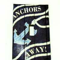 Light Switch Cover - Light Switch Plate Anchors Away Nautical