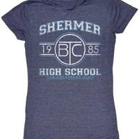 The Breakfast Club Shermer High School 1985 Heather Navy Juniors T-Shirt - The Breakfast Club - | TV Store Online