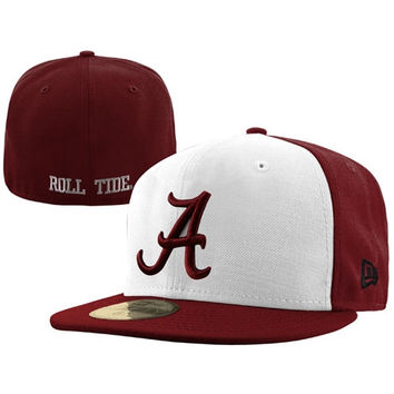 New Era Alabama Crimson Tide White/Crimson 59FIFTY Fitted Hat