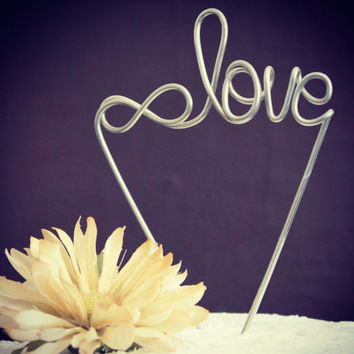 Our Love is Infinite: Infinity Wedding Cake Topper