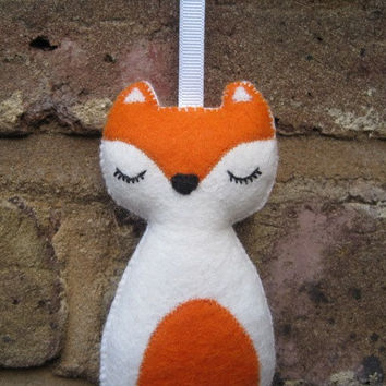 Christmas Fox Woodland Animal Felt Plush Ornament - Fifi The Fox