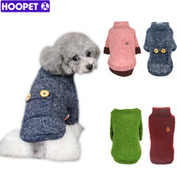 Pet Dog  Woolen Sweater Puppy Knitwear Clothes Hoodie Winter  Warm Turtleneck Cat Apparel