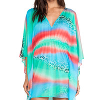 Luli Fama Caftan Dress in Green