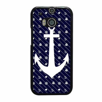 white anchor on navy htc one cases m8 m9 xperia ipod touch nexus