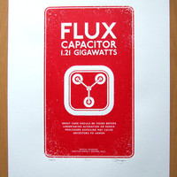 Back to the Future Flux Capacitor Hand Pulled Limited Edition Screen print