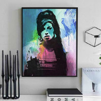 Amy Winehouse Wall Art  | Lisa Jaye Art Designs