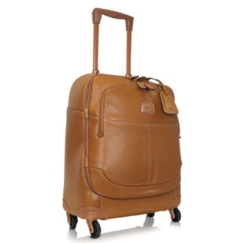 Bric's Designer Travel Bags Life Pelle - Leather Carry-On Trolley with Spinners
