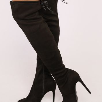 Edgy Chick Over The Knee Boot - Black