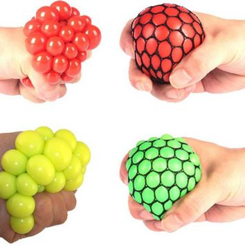 Peradix Anti Stress Ball Novelty Fun Splat Grape Venting Balls Squeeze Stresses Reliever Toy Funny Gadgets Gift