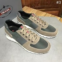 PRADA 2018 new canvas sports and leisure trend men's breathable comfortable sports shoes #3