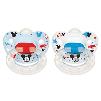 NUK Disney Orthodontic 0 - 6 Months Silicone Pacifier 2 Pack - Mickey Mouse