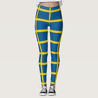Leggings with flag of Sweden