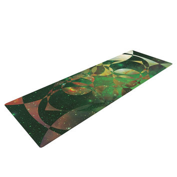 "Matt Eklund ""Galactic Brilliance"" Geometric Green Yoga Mat"
