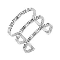 Vince Camuto 3-Row Pave Open Metal Bar Cuff Bracelet