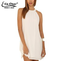 Chiffon Dress Women   Summer Dress Plus Size Casual Women Clothing Chic Elegant White Party Dresses