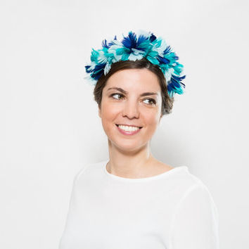 Grizel - Wedding Crown made with feathers