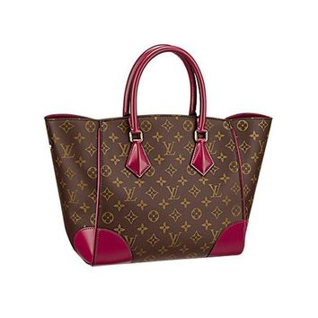 DCK4S2 Authentic Louis Vuitton Monogram Canvas Phenix MM Bag Handbag Article: M41541 Made in Italy