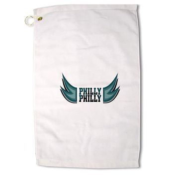 "Philly Philly Funny Beer Drinking Premium Cotton Golf Towel - 16"" x 25 by TooLoud"