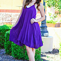 DAY DREAMING DRESS IN PLUM